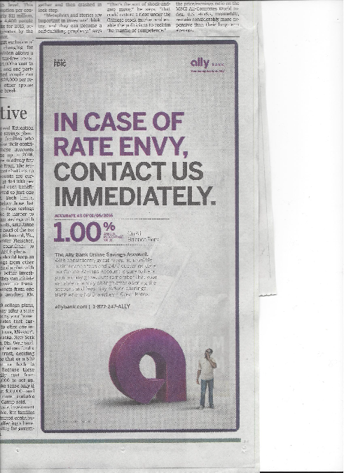 In Case of Rate Envy